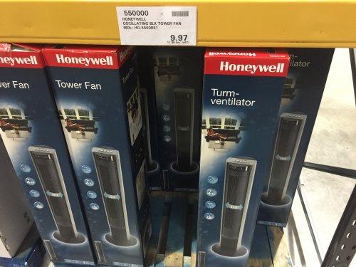 Honeywell Oscillating Tower Fan w/ remote @ Costco £11.96 (£70 Argos)