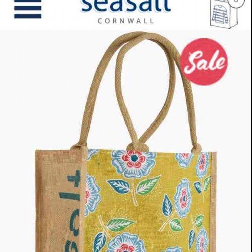 sea salt jute bag delivered £2.80