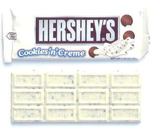 4 Hershey's Cookie 'n' Creme bars Or plain Hershey's (Mix of either) 99P @ 99pstores