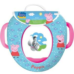 Peppa Pig toilet training seat with handles, only £9.99, at toys-r-us