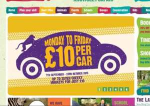Knowsley safari park. £10 per car (up to 7 people). Weekdays only.