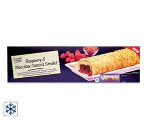 Raspberry and chocolate custard strudel 0.89p from aldi