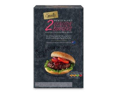 2x170g (340g) frozen venison burgers at aldi for just £0.99