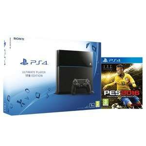 PS4 1TB console with Pro Evolution Soccer 2016 (PES 2016) - Only £309.99 @ Zavvi