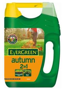 Evergreen 2 in 1 Autumn grass/lawn feed with spreader - 100 square meters £7 ~ B&Q instore
