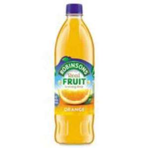 Robinsons real fruit orange squash 1 litre /reduced from 1.49 0.74p at morrisons