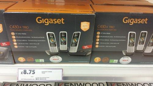 Gigaset C430 triple phone £8.75 @ Tesco instore