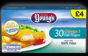 farmfoods Youngs 30 Omega 3 fish fingers for £2