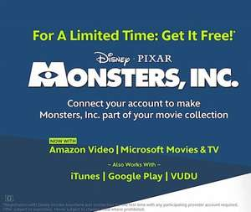Free Monsters Inc (Digital Movie)