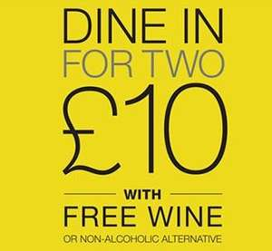 M&S Dine in for Two £10 - Main, Side, Dessert, and free bottle of wine.