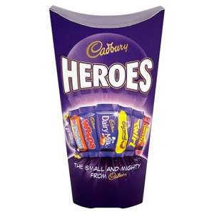Cadbury Heroes Carton 350G + Cadburys Roses Carton 331G + Cadbury Milk Tray Boxed Chocolates 200G - Half Price £2 @ Tesco
