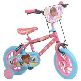 "Doc McStuffins bike with 12"" steel frame with removable stabilisers -doc-mcstuffins-   12-kids-bike-with-stabilisers @ Tesco  Direct only £35"