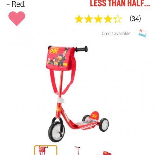 Postman pat scooter £8.99 @ Argos
