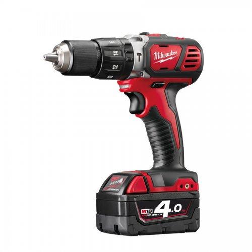 Milwaukee M18BPD401C Milwaukee 18v RED Li-ion Hammer Drill Driver, 4.0Ah Battery £119.99 @ ITS