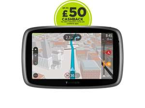 TomTom GO 5100, £259.99 + 25% discount £194.99 + £50 cash back @ TOMTOM
