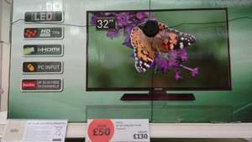 "CELCUS 32"" HD READY TV £130 @ SAINSBURY'S"