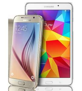Samsung Galaxy S6 32GB Gold + Tab 4 7.0 Tablet White -Virgin Mobile (£29/month) at Virgin Media