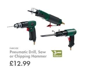 PARKSIDE Pneumatic Drill, Saw or Chipping Hammer  ( 3 Years Warranty ) £12.99* Each @ Lidl