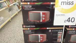 Russell Hobbs RHMM701R 17L 700W Manual Microwave, Red - £40 @ wilko (other colours also available)