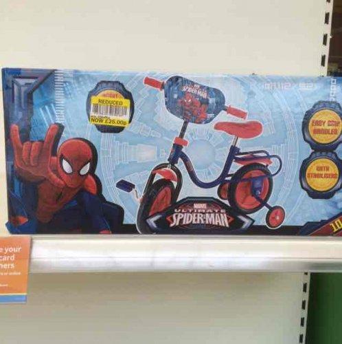 kids Spider-Man bike £25 @ Tesco in store