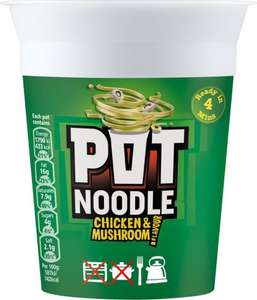 Pot Noodle 90g All Flavours PM 1.09 Only 50p @ Premier Stores