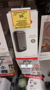 Samsung Galaxy Fame screen protector two for 50p @ Tesco