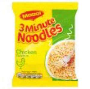 Maggi 3 minute noodles avail in BBQ beef,Curry & chicken  50g pack 20p from Tesco