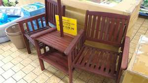 garden wooden tete a tete set £29.99 @ family bargains