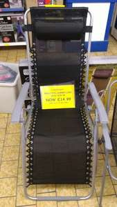 Recliner chair was 29.99 now £14.99 Family bargains