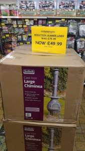 Large chimnea was 79.99 now £49.99 from today Family Bargains stores