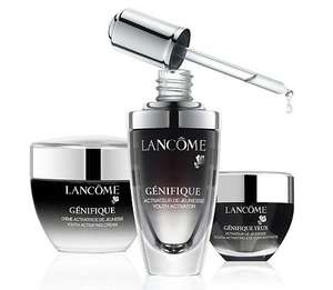 2 free luxury tailored skincare samples from Lancome through the post