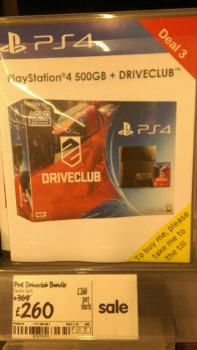 PS4 500GB Console + Driveclub £260 @ ASDA instore