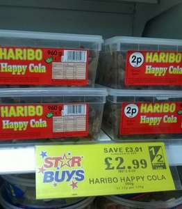 Haribo Cola Bottles 960g Tub £2.99 @ Home Bargains