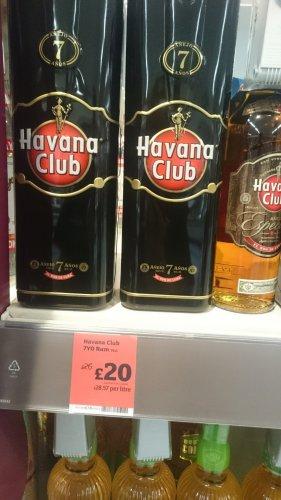 Havana club 7 year rum £20 at sainsburys