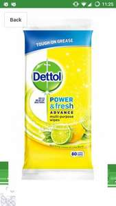 dettol power n fresh wipes 4 pack of 80 large wipes £1.68 with voucher and s&s @amazon