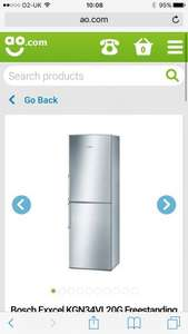 Bosch Fridge/Freezer £379 / £309 with trade in and code @ AO