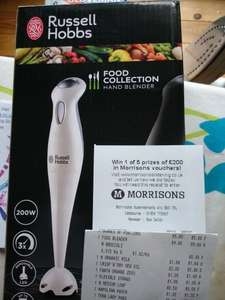 Russell Hobbs Food Collection Hand Blender £9 was £14 @ Morrisons instore