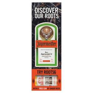 Jagermeister 700ml & Free Can Of Ginger Beer Only £15 @ Tesco