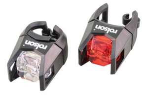 Rolson set of bike lights £1 @ B&M