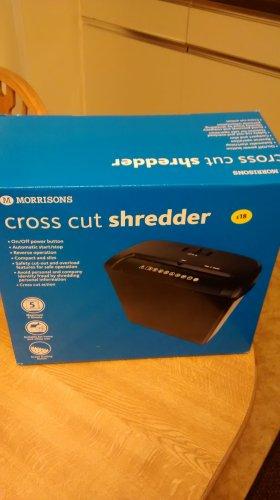 INSTORE ONLY Morrisons Cross Cut Shredder ... Now only  £6