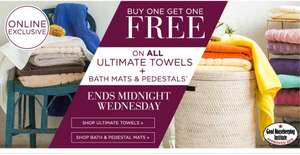 BHS Ultimate Towels, Bath Mats and Pedestals - BOGOF