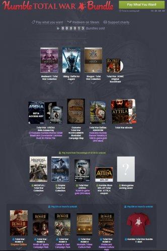 Total War Bundle 64p @ Humble Bundle