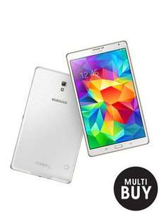 Samsung Galaxy Tab S Quad Core Processor, 3Gb RAM, 16Gb Storage, 8.4 inch Tablet - White £260 from Littlewoods £230 with code