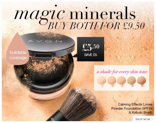 Buy both for £9.50! Calming Effects + Kabuki Brush@ Avon