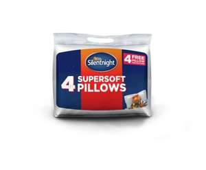 Silentnight Super Soft 4 Pack of Pillows with Protectors £10.99  at Argos Ebay+ Free click and collect at Argos stores