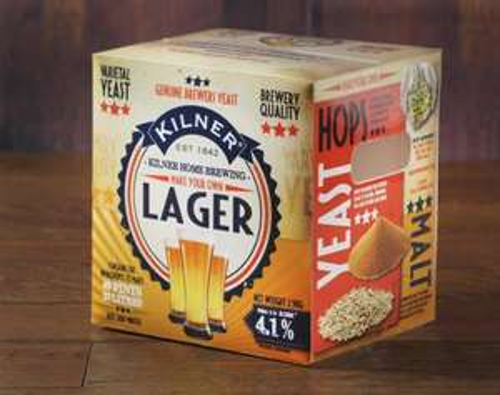 Kilner homebrew Lager and Bitter 40 pint refill  kits for £14 was £28 in Hunts Cross Asda.