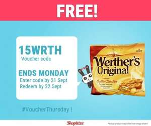 FREEBIE... Enter 15WRTH for £1 off Wether's Original Candies (135g) - 98p @ Asda, Tesco & Waitrose; 99p @ Morrisons = FREE with Profit via Shopitize & COS/CS Apps...