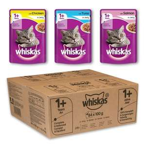 Cheapest Ever Price 84 Whiskas Mixed Selection Jelly Cat Food Pouches £10.12 @ Amazon Sub & Save