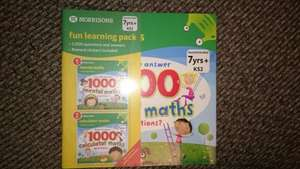 Morrisons 7yrs+ Mental maths and calculator maths 48p