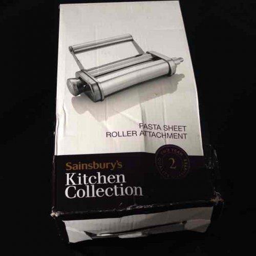sainsbury kitchen collection pasta roller works on kitchenaid £4.99